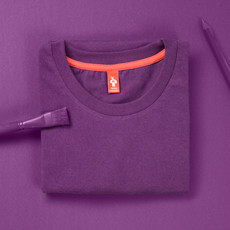 thokkthokk fairtrade t-shirt made with organic cotton plum