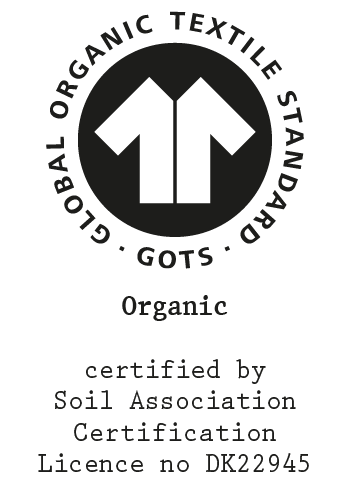 GOTS certification for t-shirts, hoodies, underwear and socks.