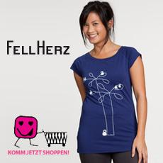 FellHerz t-shirts produced with organic cotton and fair